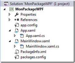 Structure du package WPF