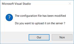 Upload de la configuration