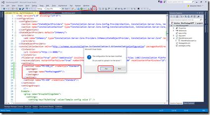 Ajout du package depuis Visual Studio