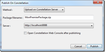Publier un package Constellation