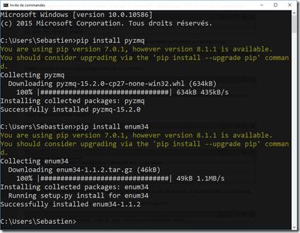 Installation des libs pour Python