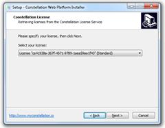 Web Platform Installer pour Windows : Choix des licences