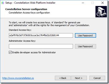 Création des Access Keys