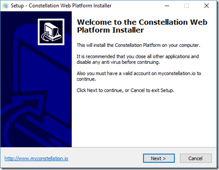 Installer la plateforme Constellation 1.8
