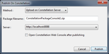 Publier un package depuis Visual Studio