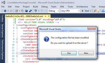 Editer la configuration Constellation depuis Visual Studio
