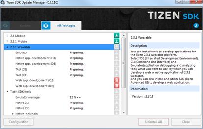 Connecter une application Tizen sur Samsung Gear à