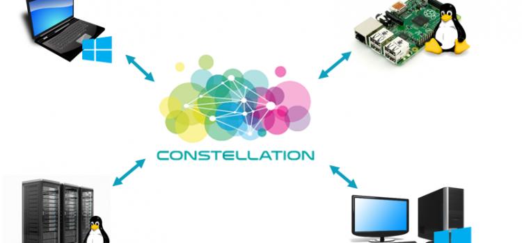 L'architecture Constellation et les différents acteurs : sentinelle, package, contrôleur et consommateur