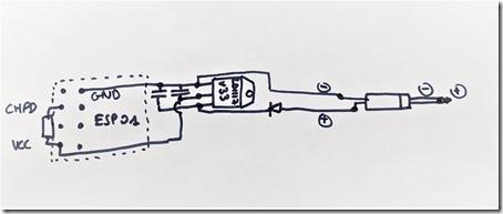 Schéma du montage avec l'ESP8266