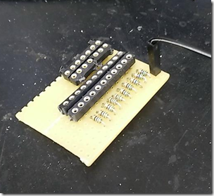 BreadBoard d'interface avec le RPi