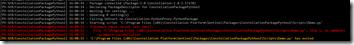 Exemple d'erreur de syntaxe redirigée dans les logs Constellation
