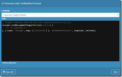 Code snippet JS 1.8.2