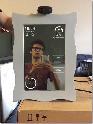 Miroir assemblé sans la webcam