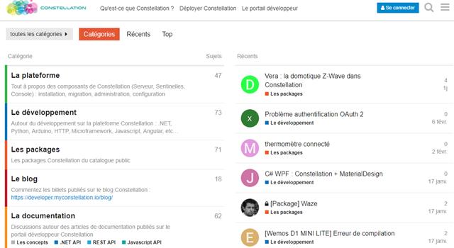 Le portail développeur Constellation s'offre un nouveau forum
