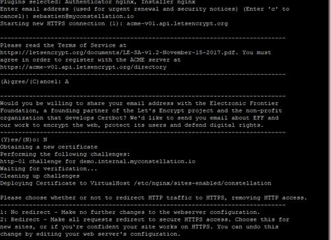 Exposer Constellation en HTTPS derrière un reverse proxy avec Nginx et Let's Encrypt